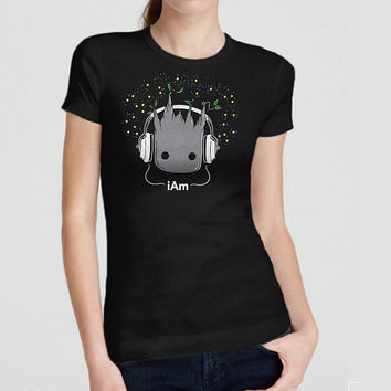 Cute Guardians Shirt - I am Groot - 100% Cotton. Guardians of the Galaxy Apple Parody Shirt.  Mens, womens and kids sizes.