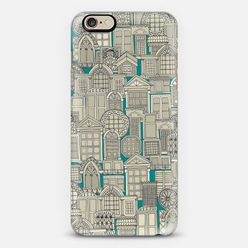 windows teal iPhone 6s case by Sharon Turner | Casetify