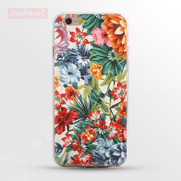 """Ultrathin Soft """" Flowers Collage """" TPU Case for iPhone 5 5s SE 6 6s 6 Plus Phone Case/Cover"""