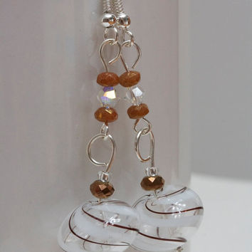 Dangle glass earrings