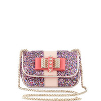 Sweet Charity Glitter Crossbody Bag, Framboisine