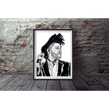 The Weeknd Art Print Wall Art Painting Mural Abstract Custom Art Print