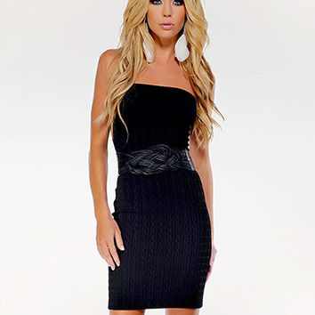 Cable Knit Tube Dress | Sexy Clothes Womens Sexy Dresses Sexy Clubwear Sexy Swimwear | Flirt Catalog