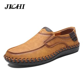 2018 Winter Casual Shoes Men Fashion Loafers Men Casual Driving Shoes Soft Moccasins Flats Slip on Footwear Men Big Size