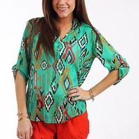 Queen Of The Isle Blouse, Mint