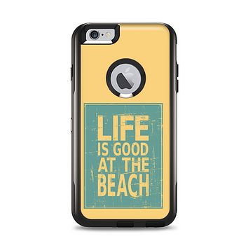 The Grungy Life Is Good At The Beach Apple iPhone 6 LifeProof Nuud Case Skin Set