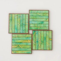 Handmade Paper Coasters Striped Gre.. on Luulla