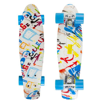 Graphic Penny Style Cruiser Board 22 inch Graffiti Plastic Skateboard