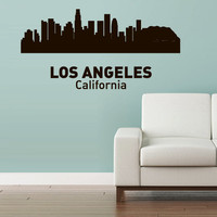 Wall Vinyl Sticker Decals Decor Art Bedroom Design Mural Words Sign Town City Skyline Los Angeles California (z3047)
