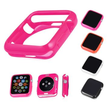 Watch Protect Case For Apple Watch Series 1/2 38MM/42MM TPU Leather Frame Case Cover For Apple Watch APB130
