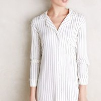 Eberjey Striped Sleep Shirt Blue Motif
