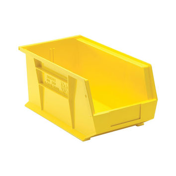 Quantum Storage Systems Ultra Stack And Hang Bin 14-3/4 X 8-1/4 X 7 - Yellow Pack Of 12