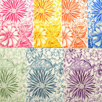 Floral Print / Floral Art / Original Ink Drawing Art Print / Flower Wall Art / Home Decor / Choose Your Favorite Color / Pantone 2014