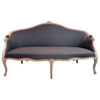 1STDIBS.COM - Gerald Bland Inc - Louis XV Grey Painted Canape