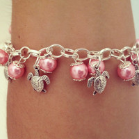 Adorable Turtle Charm Bracelet