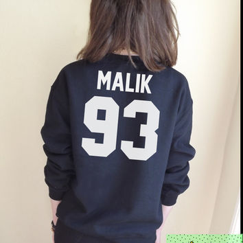 Malik 93 Jumper Unisex Black or Grey S M L Tumblr Instagram Blogger