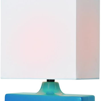 0-017807>Kara 1-Light Table Lamp Aqua