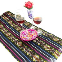 Fiesta Engagement Party, Taco Tuesday Decorations, Ethnic Fabric, Colorful tribal fabric, Bohemian chic.