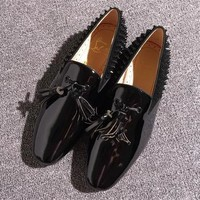 Cl Christian Louboutin Loafer Style #2356 Sneakers Fashion Shoes - Best Deal Online