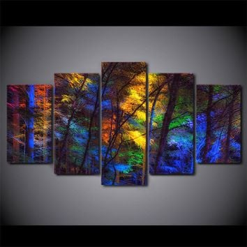 canvas wall art multi colored forest trees fall poster print poster for living r