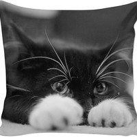Cute Black Cat Pillow