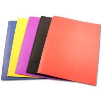 "TWO POCKET FOLDERS WITH 3 FASTENER- 9.5"" x 11.5""- 5PK"