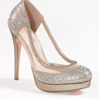 High Heel Mesh and Satin Pump with Stones from Camille La Vie and Group USA
