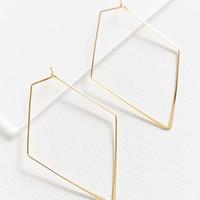 18k Gold-Plated Geometric Hoop Earring | Urban Outfitters