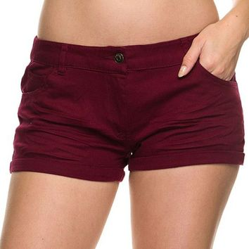 Casual Chic Classic Mini Skinny Bermuda Short