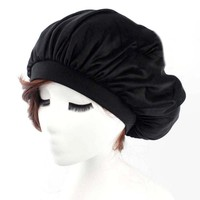 Women Sleep Hats Casual Silk Comfortable Extender Fashion Caps Solid Color Gorros For Long Hairs Bone Bonnet Femme Z30
