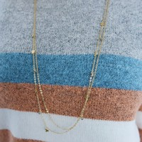 Waiting All My Life Necklace: Gold