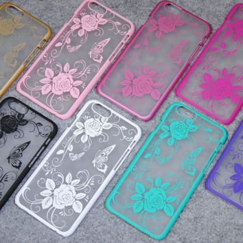 Royal flower series (Lace Rose) mobile phone case for iphone 5 5s SE 6 6s 6Plus 6S Plus+ Nice gift box!