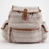T-Shirt & Jeans Lace Print Backpack Brown One Size For Women 25150140001
