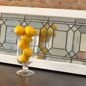 Vintage Leaded Window Mirror by SpicyMarshmallow on Etsy
