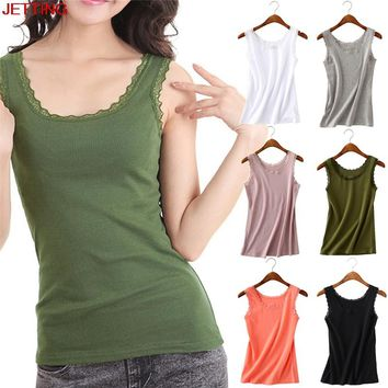 JETTING-6 Colors Women Sexy Lace Tank Tops Sleeveless Bodycon Temperament Vest Summer Fashion Lace Camisole Tops 1PCS 2017 New