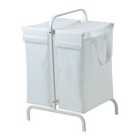 MULIG Laundry bag with stand, white - 17 gallon - IKEA