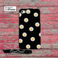 Daisy Flower Yellow Pattern Cool Cute iPhone 4 and 4s Case and iPhone 5 and 5s and 5c Case and Wallet Case and iPhone 6 and 6 Plus + Case