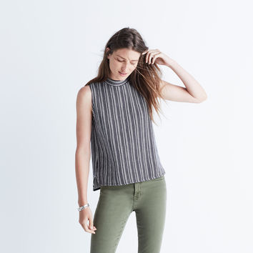 Striped Mockneck Tank Top : | Madewell