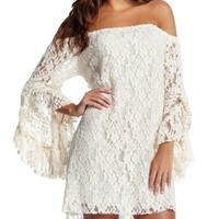 Kiistyle Cream Lace Mini White Summer Casual Women Dress_White: Amazon.ca: Sports & Outdoors