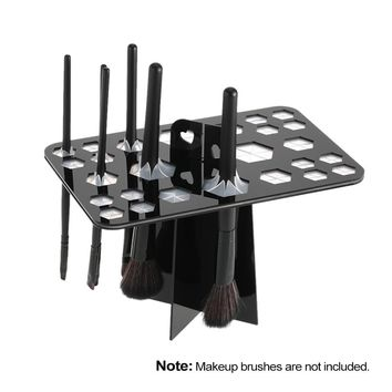 26 Holes Makeup Brush Holder Air Drying Rack Organizer Shelf Make Up Tree Brushes Organizer Cosmetic Brush Dryer Stand Storage