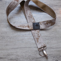Marine Tan Marpat Print Military Safety Breakaway  Lanyard