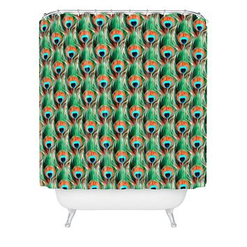Belle13 Peacock Eye Pattern Shower Curtain