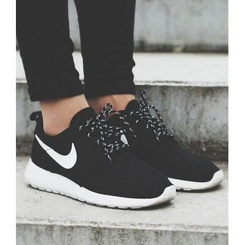NIKE Roshe Fashion Women Men Breathable Running Sport Shoes Sneakers Black