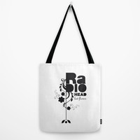 Last flowers Song - Radiohead - black version Tote Bag by LilaVert | Society6