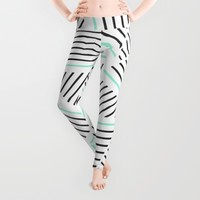 Ab Linear Zoom With Mint Leggings by Project M | Society6