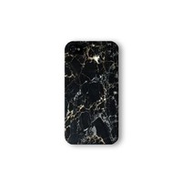 Iphone 4/4s Case, Black Marble Print 3d-sublimated, Mobile Accessories Marble 04.