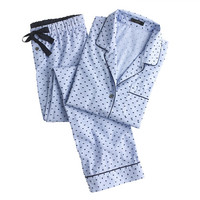 J.Crew Womens End-On-End Pajama Set In Swiss-Dot
