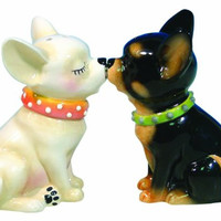 Westland Giftware Mwah Magnetic Chihuahuas Salt and Pepper Shaker Set, 3-1/2-Inch