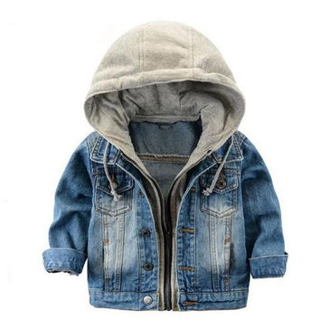 Kids Denim Hooded Jacket