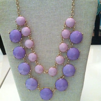 Two Tone Purple Statement Necklace